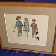 Norman Rockwell Embossed Framed Print Young Man�s Fancy!