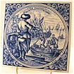 Hand Painted Delft Blue Tile Made In Holland De Zeeman!