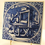 Hand Painted Delft Blue Tile Made In Holland De Plaatdrucker!