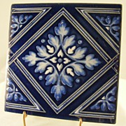 Lot Of Three Delft Blue Decorative Tiles From Japan!