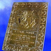 Child�s Prayer in Molded Brass