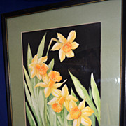 Daffodil Watercolor by Helen Moses Knoll