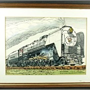 "Paul Randall Railroad Print ""The Niagara"" Ca. 1972"