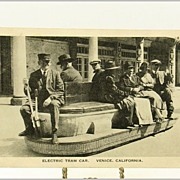 REDUCED Theo. Sohmer Post Card of Electric Tram Car, Venice, California