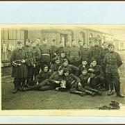 Belgian Real Photo Post Card of The 7th Battalion 4th Company 1924