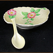Carlton Ware Wild Rose Leaf Dish and Spoon