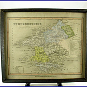 Joshua Archer Pembrokeshire Map C. 1847 Dugdales