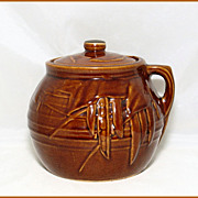 McCoy Pottery Bean Pot Ca. 1940 Decorated With Beans