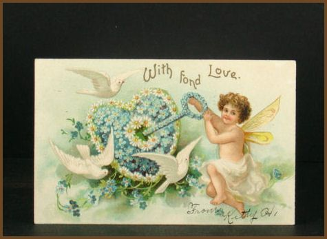 Undivided 1907 Valentine's Post Card Printed in Germany