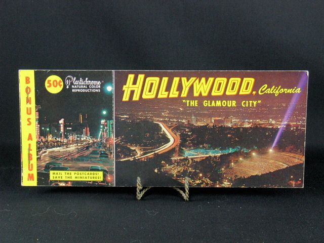 Vintage 1950's Hollywood Souvenir Post Card Book