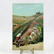 Vintage Post Card of The Incline Railway on Santa Catalina Island