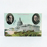Vintage Salesman's Sample Political Post Card William Howard Taft