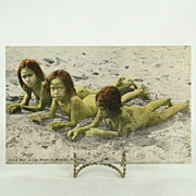 Vintage Hawaii Island Curio Company Post Card 20604 Shark Bait
