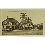 Vintage Hawaiian Post Card The Waikiki Tavern And Inn Honolulu
