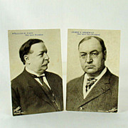 Political Post Cards (2) Circa 1908 William H. Taft & James S. Sherman