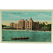 Island Curio Company Territory of Hawaii Royal Hawaiian Hotel Post Card