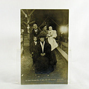 Billy Sunday Real Photo Post Card Circa 1907 With Family