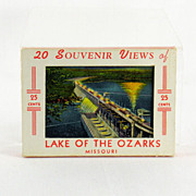 Lake of The Ozarks MIni Souvenir Post Cards c. 1949
