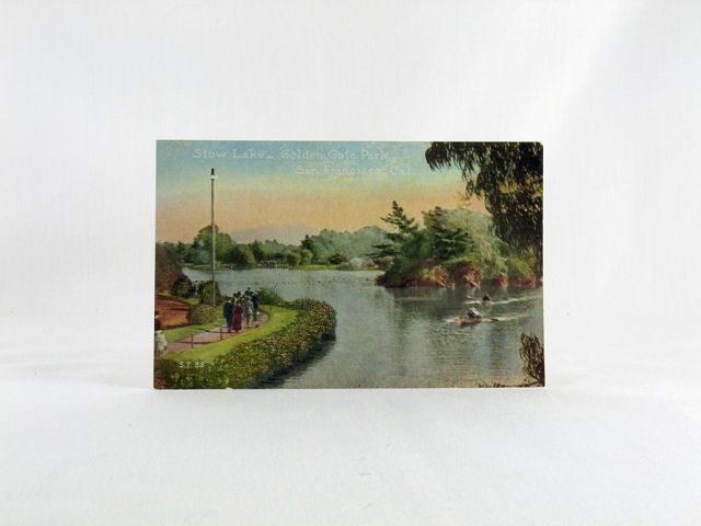 Pacific Novelty Company Post Card of Stow Lake - Golden Gate Park