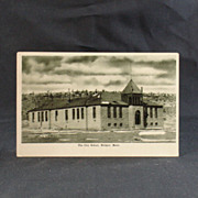 Bridger Montana The City School Post Card Circa 1920