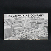 J. R. Watkins Company Advertising Post Card Circa 1939