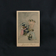 Joyeuses Paques An Artist Signed Vintage French Easter Post Card