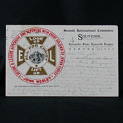 Colorado State Epworth League Convention 1905 Souvenir Post Card