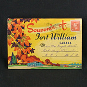 Fort William Canada Souvenir Post Card Folder Circa 1952