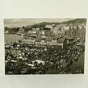 Vintage European Enerett Mittet RPPC of Bergen Norway Ca. 1960