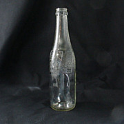 Vintage Pepsi Cola Bottle With Embossed Keystone Circa 1940's