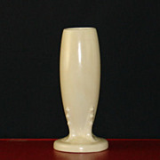 Old Fiesta Ivory Bud Vase Circa 1940