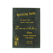 Vintage Short Wave Zenith Trans-Oceanic H500 Operating Guide