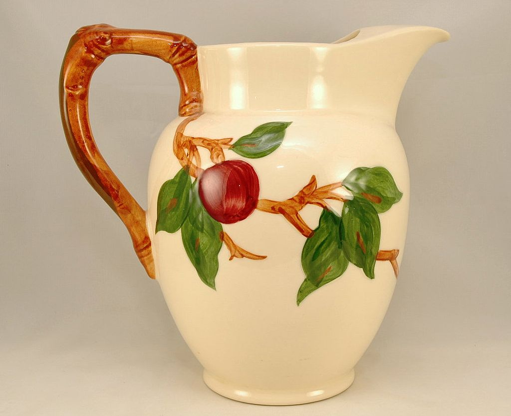 Franciscan Ware Apple 64 Ounce Water Pitcher Ca. 1940-48