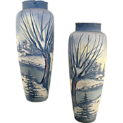 SALE Villeroy & Boch Pair of Vases Ca. 1895-1912