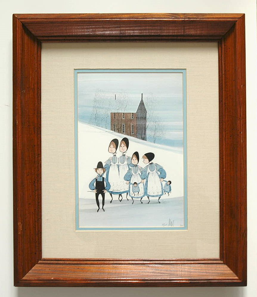 "P. Buckley Moss ""Our Little Brother"" Signed Print 875/1000"