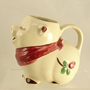 REDUCED Shawnee Smiley Pig Cloverbud Creamer C. 1940