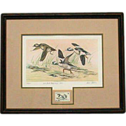 1979 Iowa Duck Stamp Artist Signed w/Signed and Numbered Print