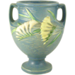 Roseville Freesia 196-8&quot; Blue Double Handled Urn