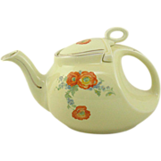 SALE Hall China Orange Poppy Streamlined Tea Pot