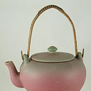 Rookwood Footed Teapot w/Rattan Handle c. IX