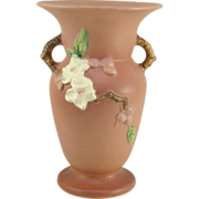 Roseville Pottery Apple Blossom Pink Vase 385-8""