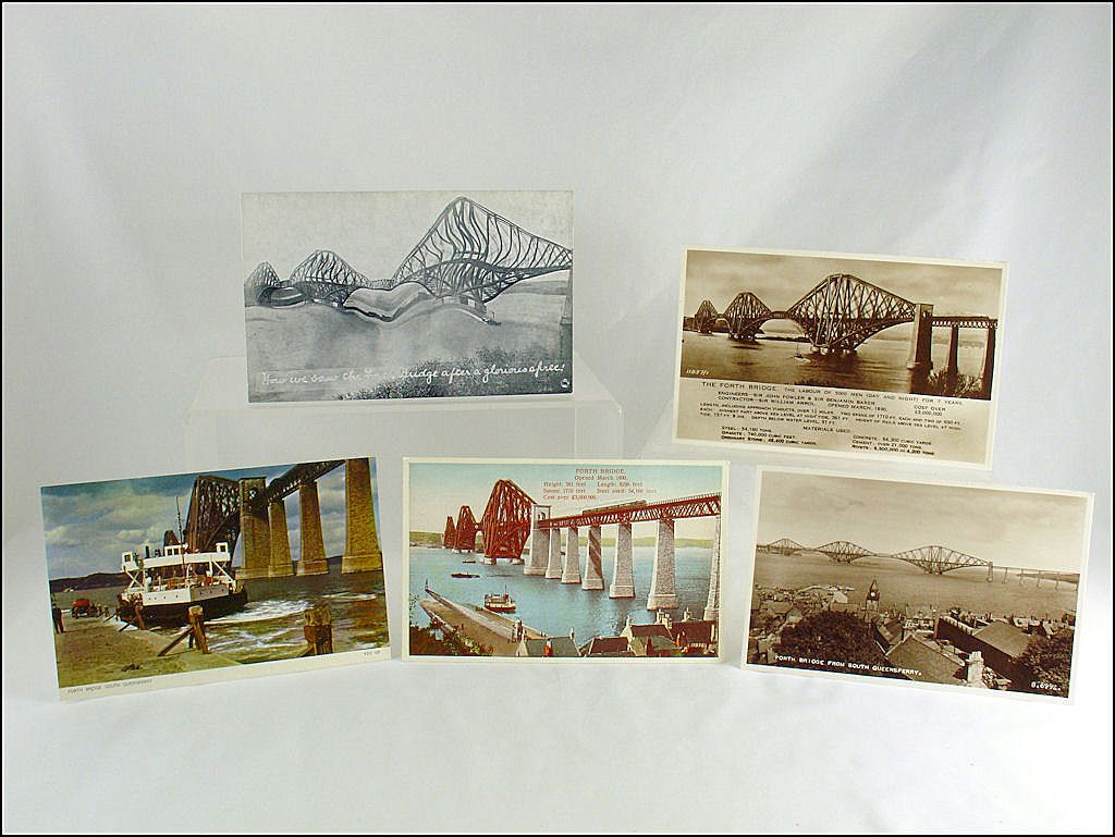 Five Vintage Post Cards of Forth Bridge / Three Are Real Photo
