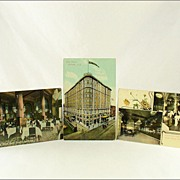 Mezzochrome Post Cards Of The Hotel Seneca, Rochester, NY, 1909