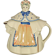 Shawnee Granny Ann Tea Pot w/Peach Apron and USA Marking
