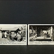 REDUCED Rainbow Angling Club Redlands, California Real Photo Post Cards (2)