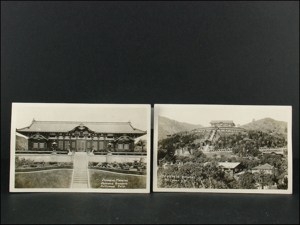 Real Photo Postcards of Japanese Gardens, Hollywood, California