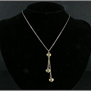Avon 3 Three Heart Necklace Goldtone