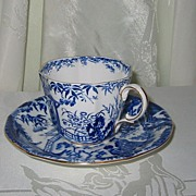 Royal Crown Derby - Blue Mikado - Teacup Set