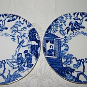 Royal Crown Derby - Blue Mikado - Bread Plates(2)