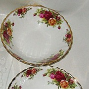 SALE Royal Albert - Old Country Roses - Cereal Bowls (4) & Fruit Nappies (4)